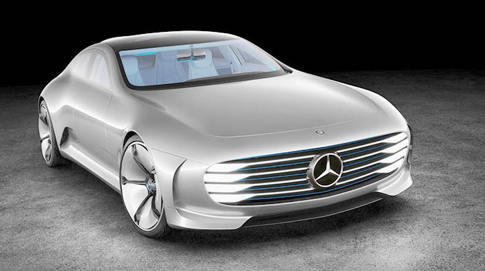 Mercedes IAA konseptinin ön tasarımı