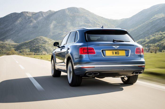 Bentley Bentayga Diesel'in arka tasarımı