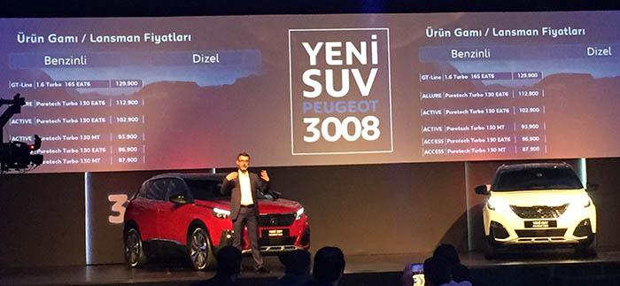 Yeni 3008 lansmanında Pazarlama Direktörü Mehmet Akın aracı ve pazarı anlattı