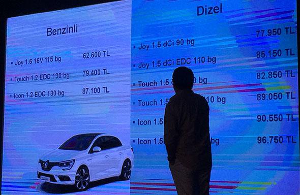Yeni Megane Sedan fiyatları 62.600 TL'den başlıyor