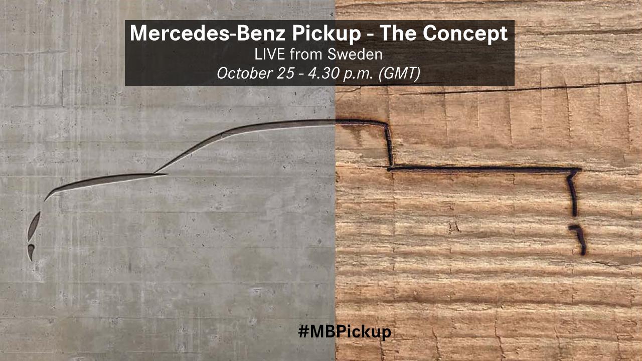 Mercedes pick-up'ın tanıtım afişi