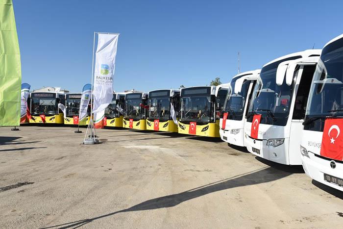 22 otobüs Balıkesir Belediyesi'ne teslim edildi.