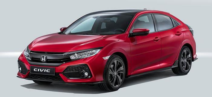 Honda Civic HB'nin ön tasarımı