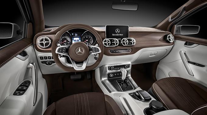 Mercedes X-Class konseptinin kabini